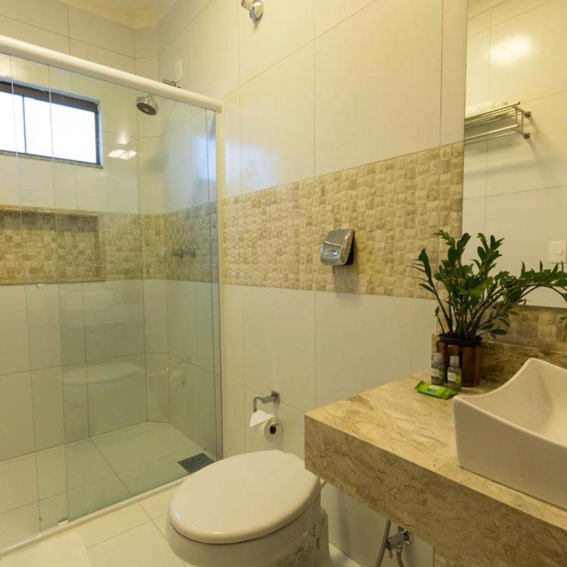 Banheiro do Apartamento Luxo Especial | Pousada Arte da Natureza | Bonito/MS
