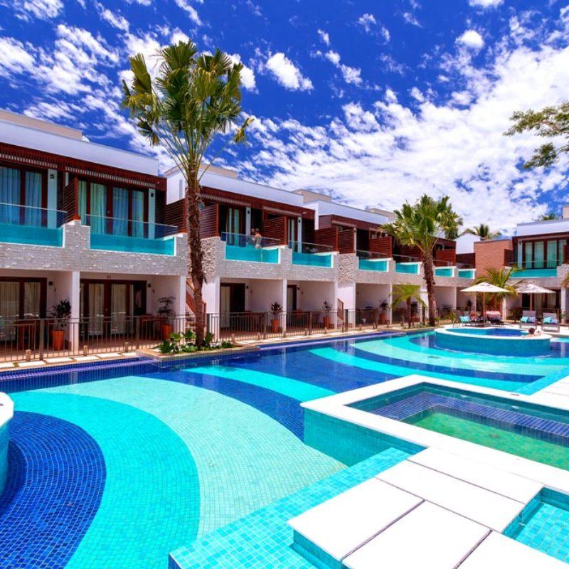 Nova piscina, bar, quartos, jardins e palmeiras | Pousada Arte da Natureza | Bonito/MS